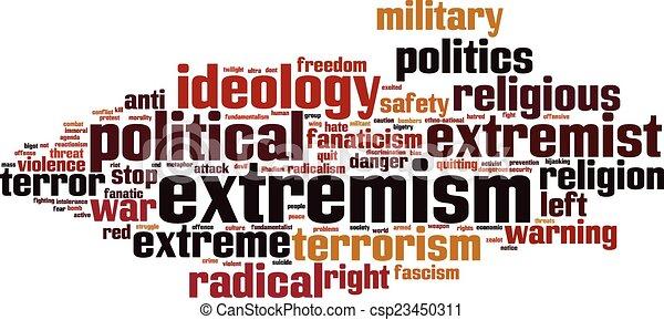 Extremistische Wortwolke - csp23450311