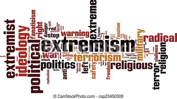extremismus, wort, wolke - csp23450308
