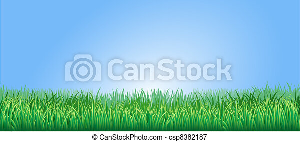 Lush verde ilustración de hierba - csp8382187