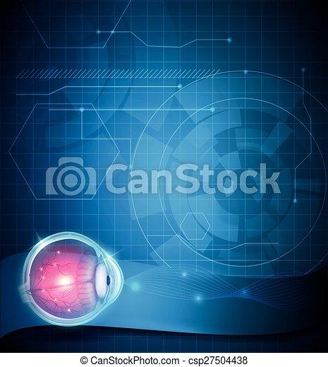 Eye anatomy - csp27504438