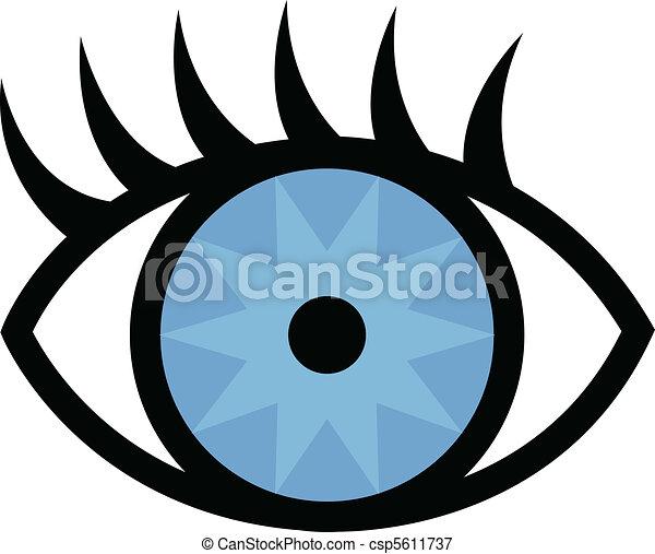 Eye and eyelashes - csp5611737