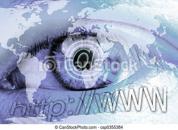Eye and Internet - csp0355384