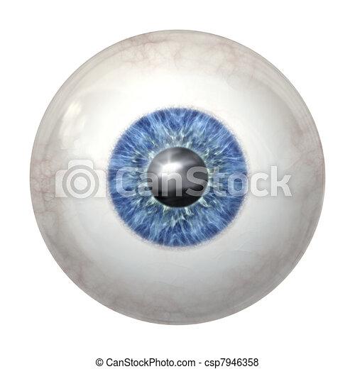 eye ball blue - csp7946358
