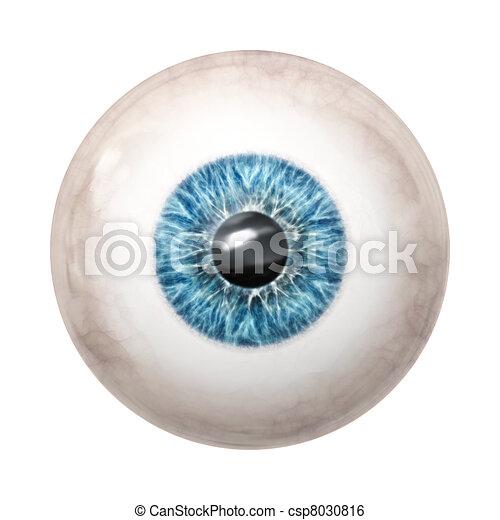eye ball blue - csp8030816