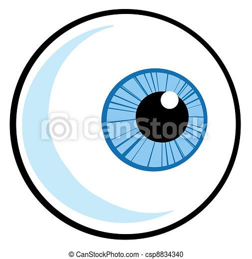 blue eye ball cartoon character vector clipart search illustration rh canstockphoto ca eyeball vector png flying eyeball vector