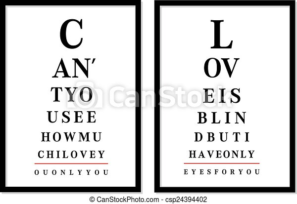 eye chart pictures, vector  - csp24394402