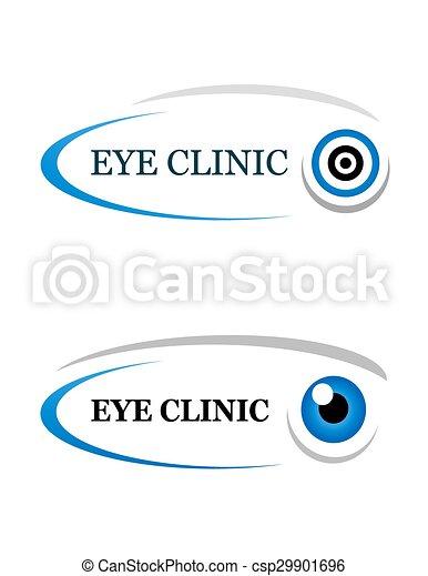 eye clinic sign - csp29901696