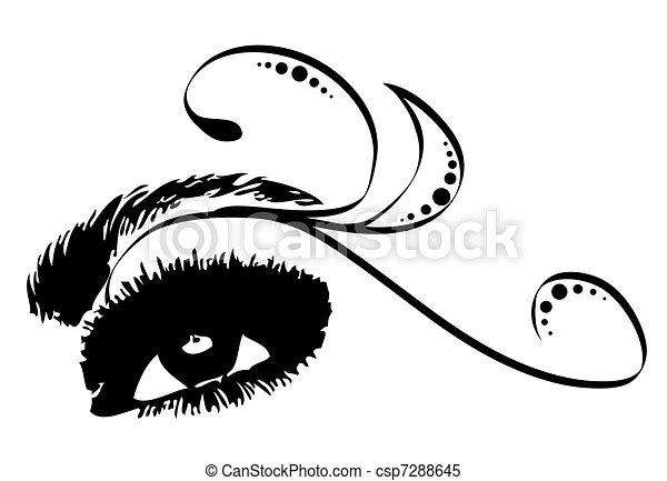 Eye Decorative. Vector - csp7288645
