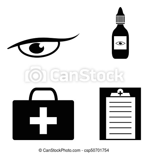 eye doctor icon set clipart vector search illustration drawings rh canstockphoto com