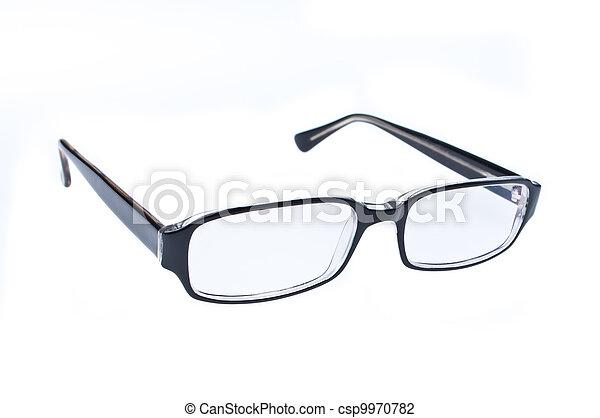 eye glasses isolated on white background - csp9970782