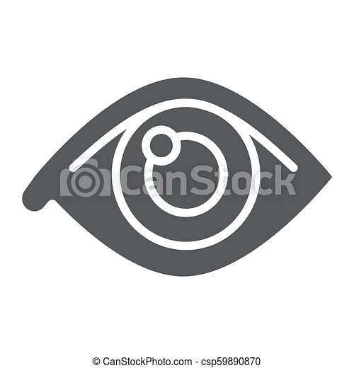 Eye glyph icon, anatomy and biology, ophthalmology sign, vector graphics, a solid pattern on a white background, eps 10. - csp59890870