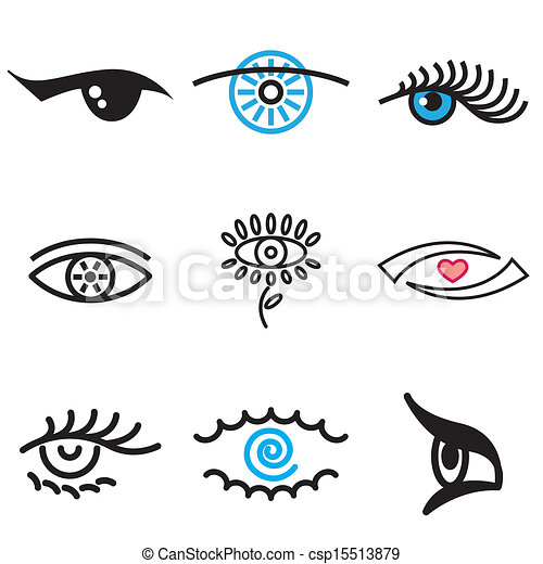 eye hand drawn icons - csp15513879
