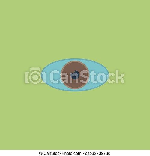Eye icon. Flat design style. - csp32739738