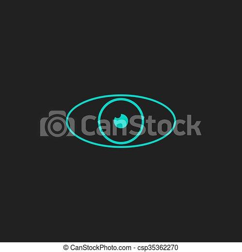 Eye icon. Flat design style. - csp35362270