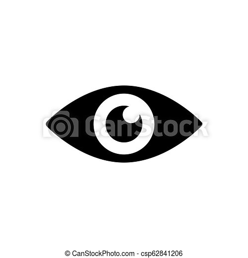 Eye Icon In Black Simple Black Eye Symbol In Flat Style Isolated On White Background Simple Eye Vector Abstract Icon For