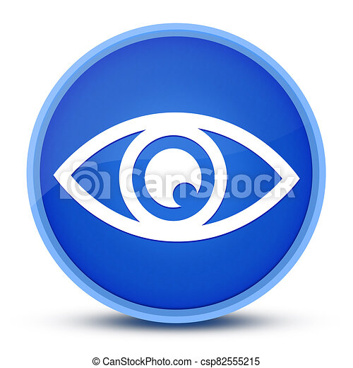 Eye icon isolated on special blue round button abstract - csp82555215