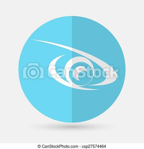 eye icon on a white background - csp27574464