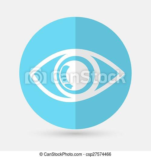 eye icon on a white background - csp27574466