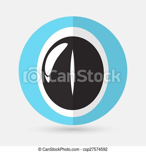 Eye icon on a white background - csp27574592