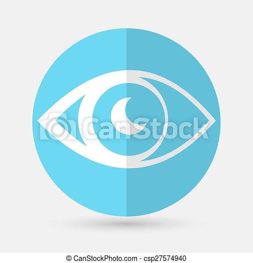 eye icon on a white background - csp27574940