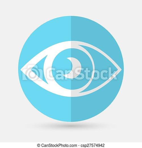 eye icon on a white background - csp27574942