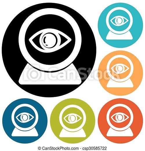 eye icon on a white background - csp30585722