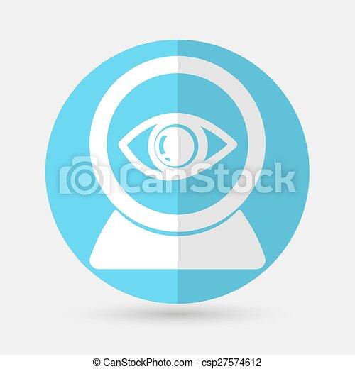 Eye icon on a white background - csp27574612