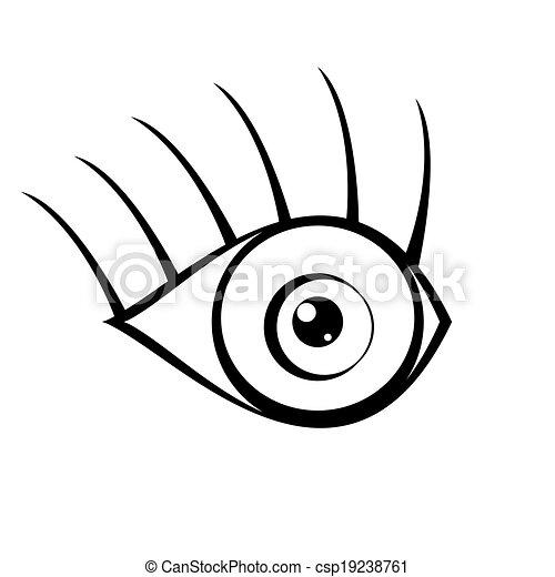 eye icon on white background - csp19238761
