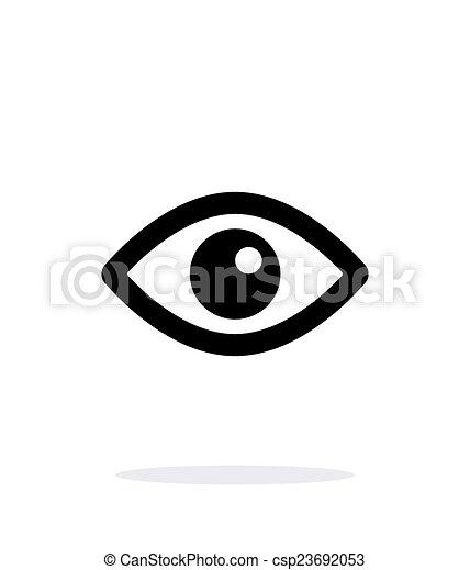 Eye icon on white background. - csp23692053