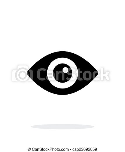 Eye icon on white background. - csp23692059