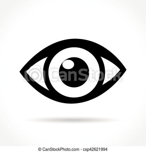 eye icon on white background - csp42621994