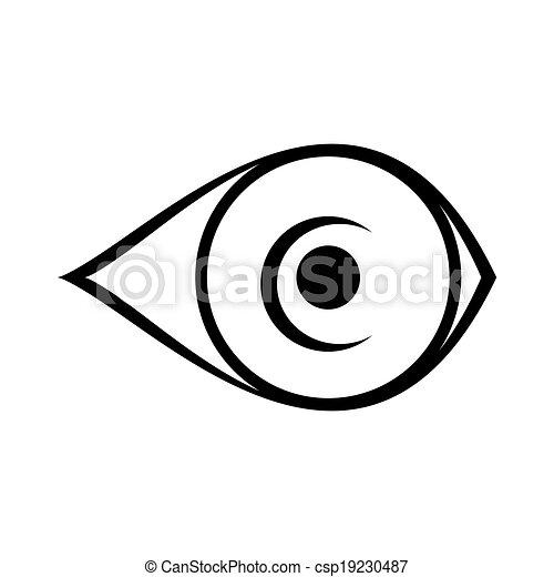eye icon on white background - csp19230487