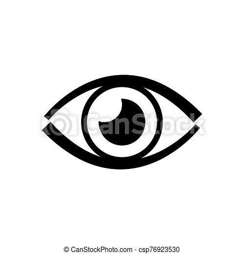 Eye icon on white background. - csp76923530