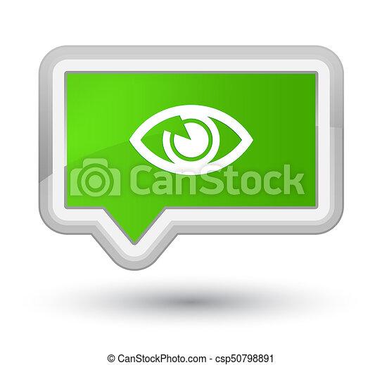 Eye icon prime soft green banner button - csp50798891