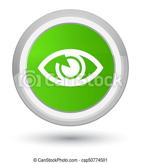 Eye icon prime soft green round button - csp50774501