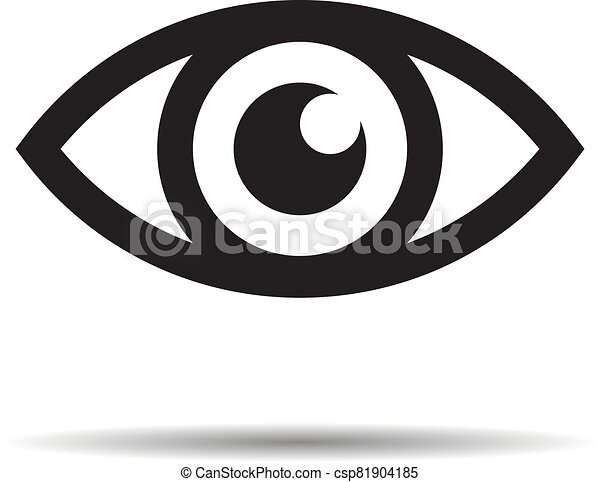 Eye icon - vector illustration - csp81904185
