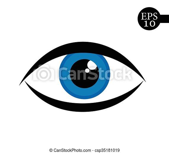 Eye icon - vector illustration. - csp35181019