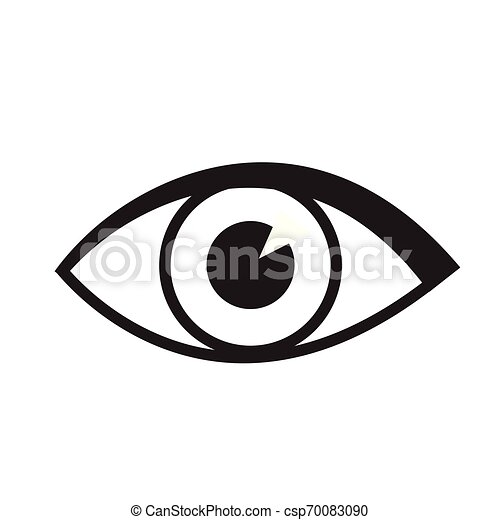 Eye icon vector isolated on white for web and mobile app - csp70083090