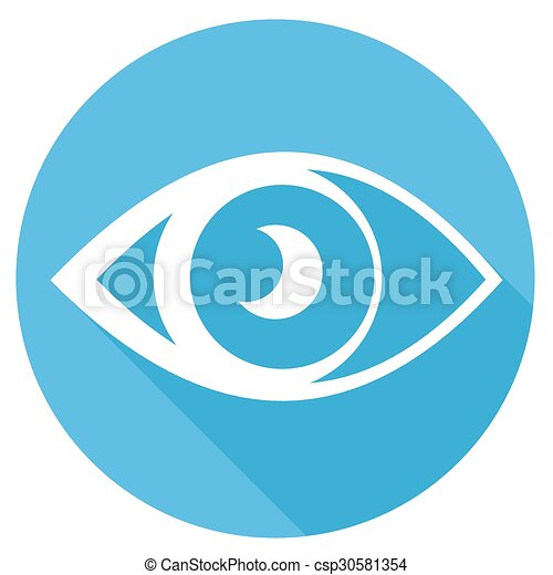 Eye icons with long shadow - csp30581354