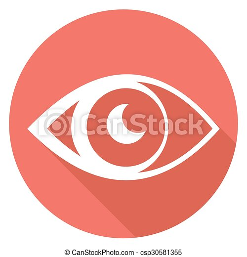 Eye icons with long shadow - csp30581355