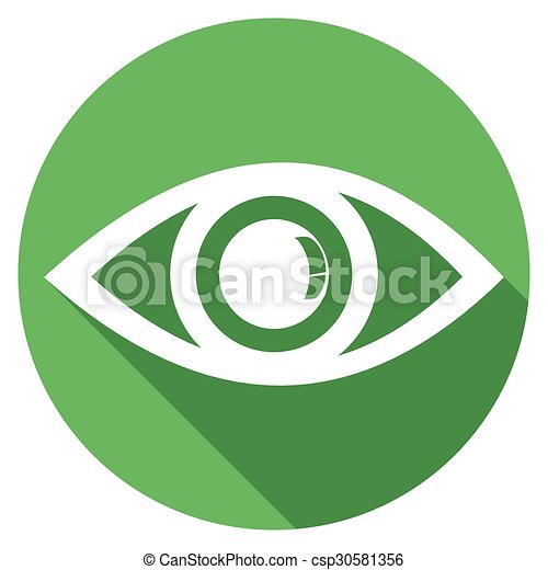 Eye icons with long shadow - csp30581356
