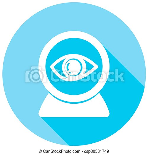 Eye icons with long shadow - csp30581749