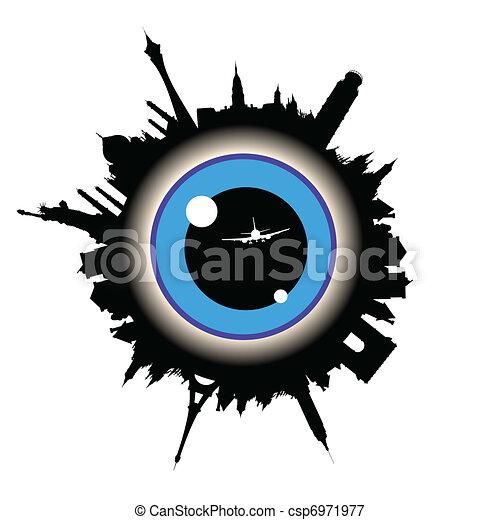 eye in center - csp6971977