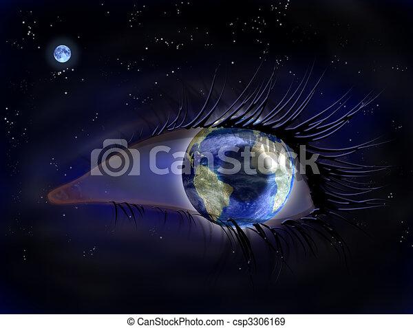 Eye in the sky - csp3306169