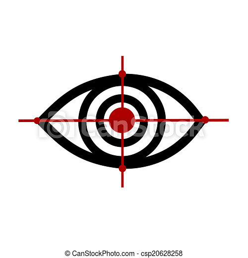 eye logo 3 vector illustration eye logo sketch on a white background