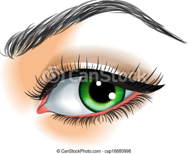 Eye make up vector illustration - csp16680998