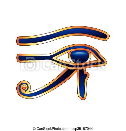 Eye of Horus isolated on white vector - csp35167044
