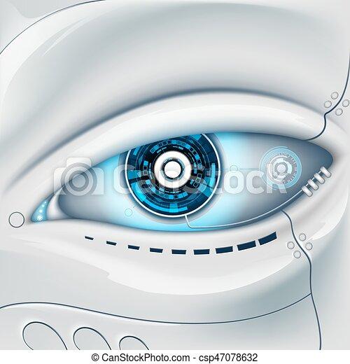Eye of the robot. - csp47078632
