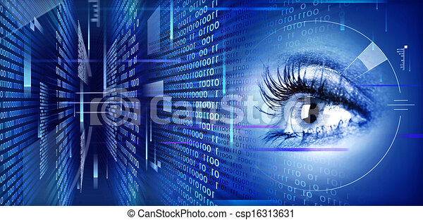 Eye on technology background. - csp16313631