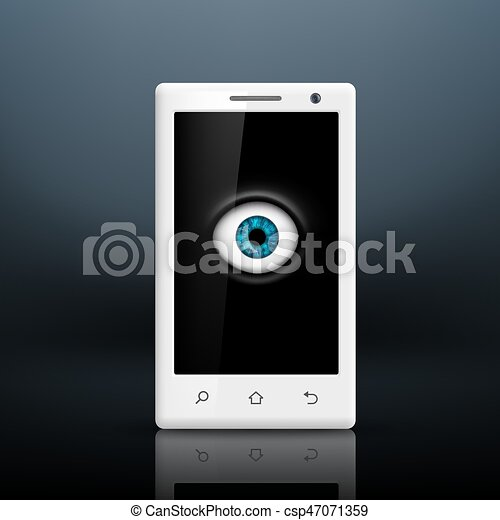 Eye on the screen of your smartphone - csp47071359